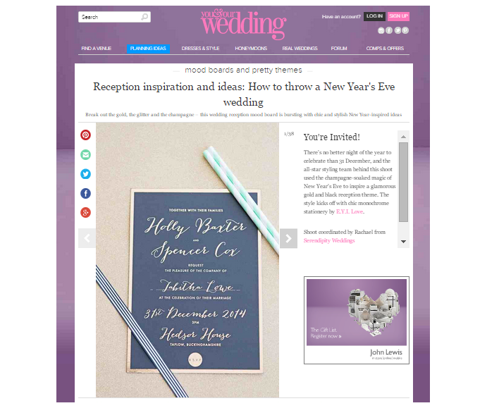 Featured // You & Your Wedding Magazine
