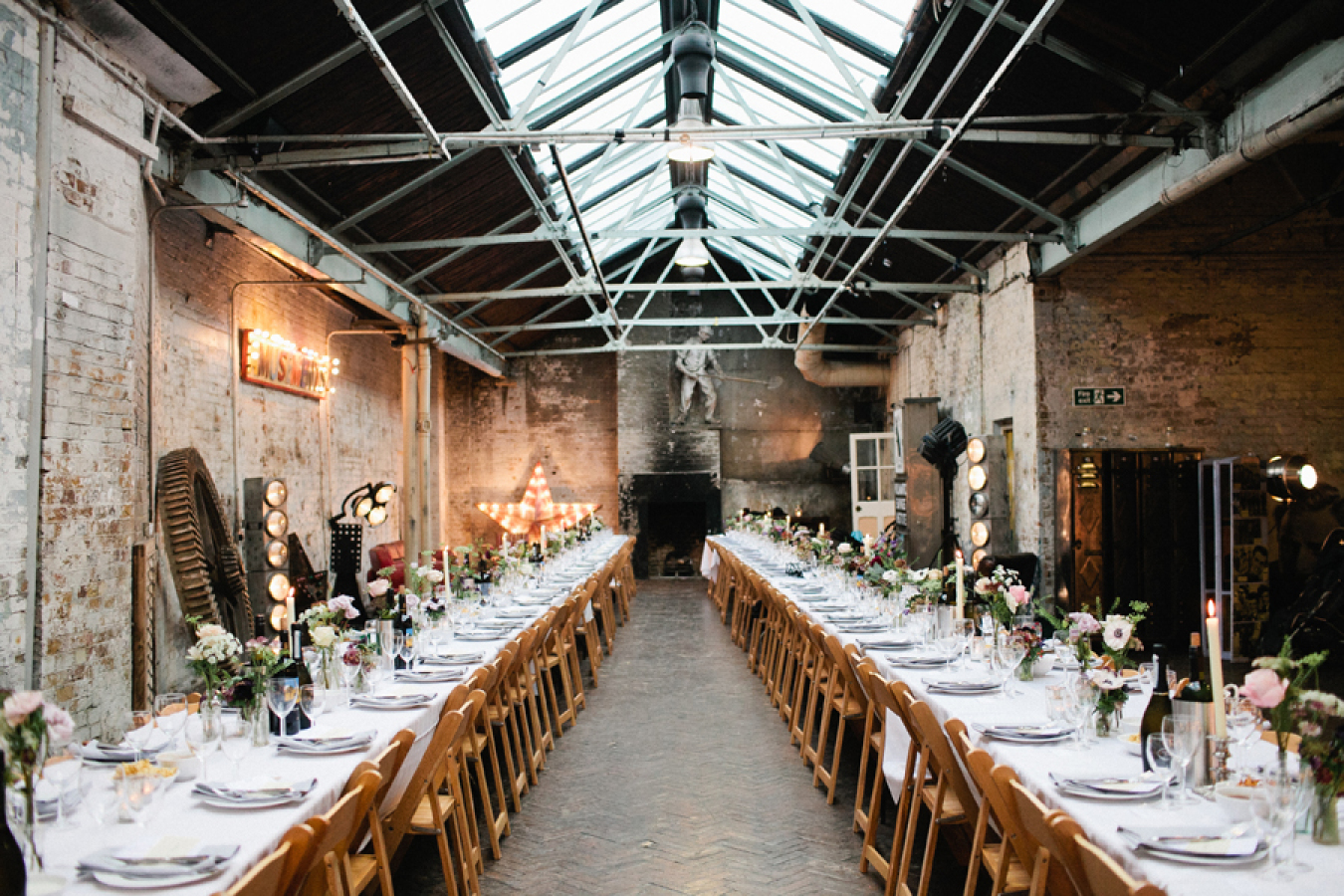 London Warehouse Wedding at MC Motors